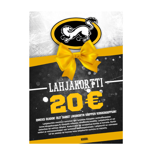 Kärppäkaupan lahjakortti 20€  812e496f43